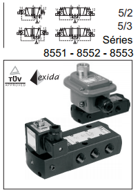 "Linha 8551 / 8552 / 8553 - Simples / Duplo Solenoide Tipo ""Spool"" 1/4"" à 1/2"""