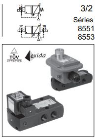 "Linha 8551 / 8553 - Simples / Duplo Solenoide Tipo ""Spool"" 1/4"" à 1/2"""